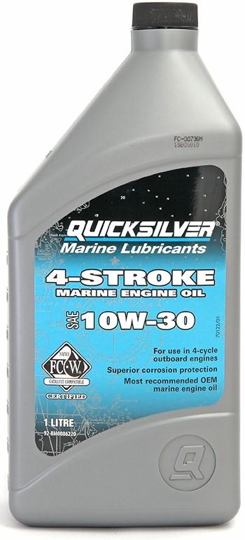 Масло моторное 4-х тактное Quicksilver 4Т 10W-30, 1 л