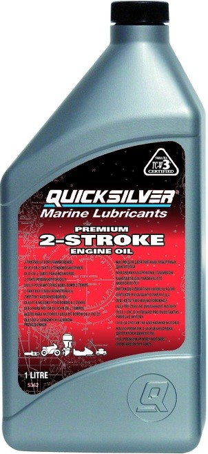 Масло моторное 2-х тактное Quicksilver 1 л